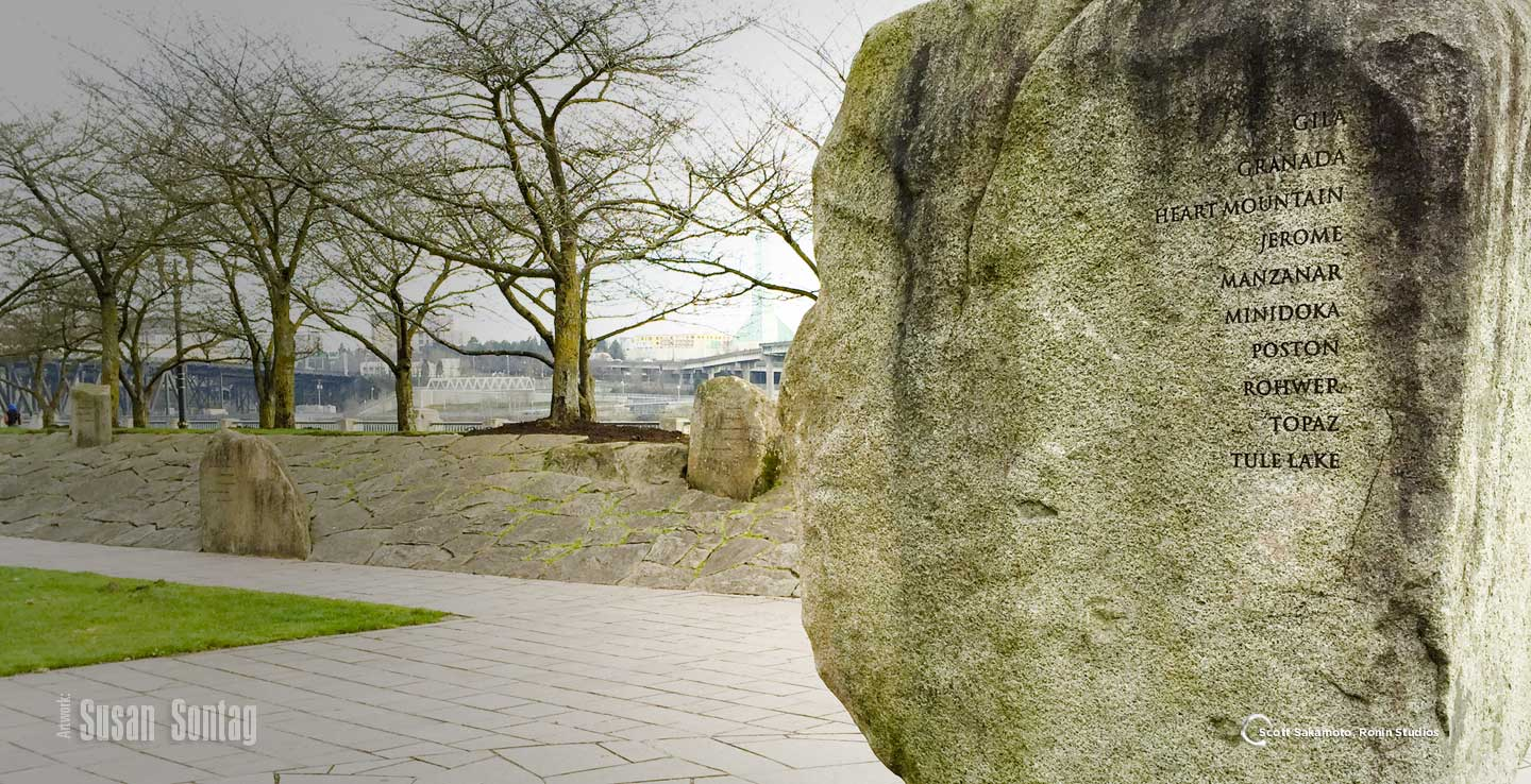 Japanese Historical Plaza at Tom McCall Waterfront Park, Civil Right, Bill of Rights