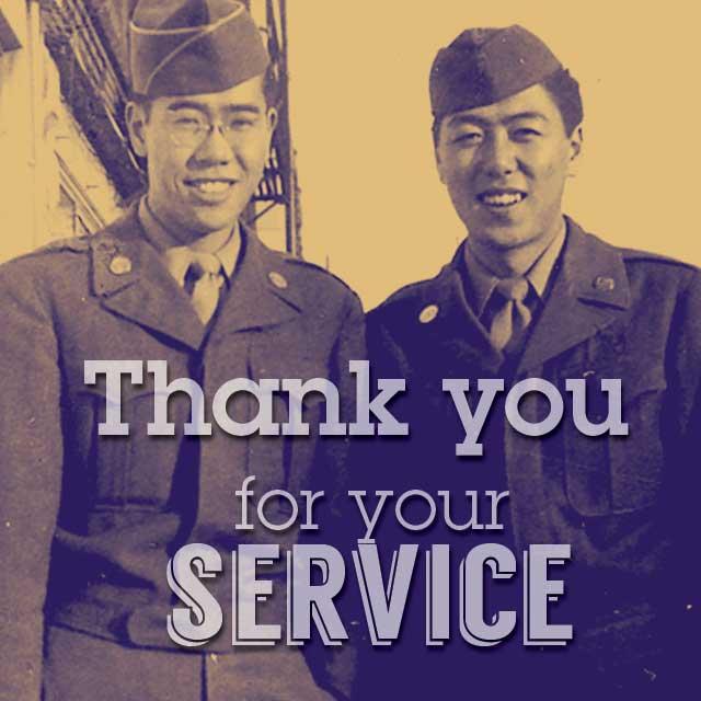 Albert Ono, Henry Sakamoto, WWII Army