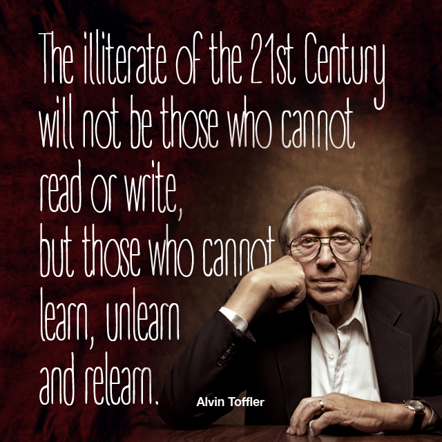Alvin Toffler, Learning,
