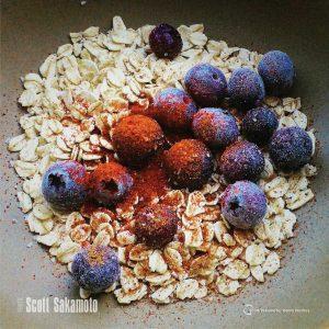 Blueberries, Cinnamon, Oatmeal