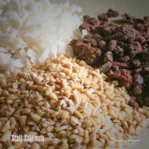 Coconut, Cocoa Nibs, Steel Cut Oats, goop