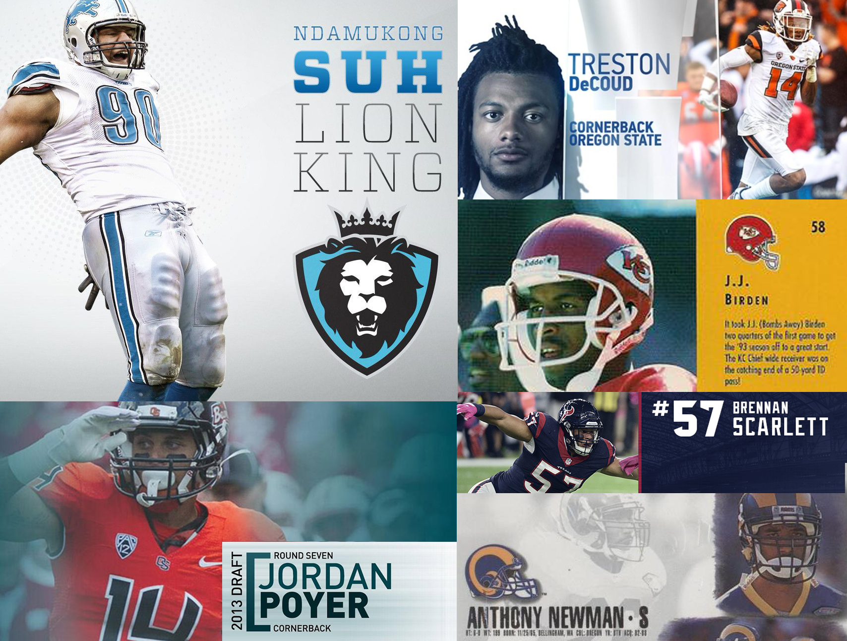Ndamukong Suh, Treston Decoud, Jordan Poyer, Brennan Scarlett, J.J. Birden and Anthony Newman