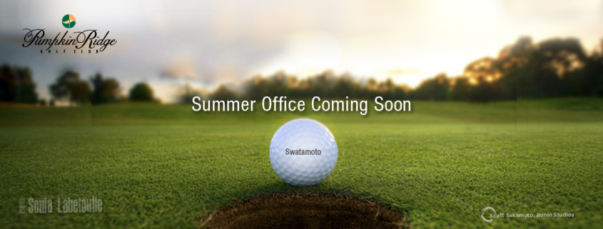 Scott Sakamoto, summer Office, Golf, Pumpkin Ridge